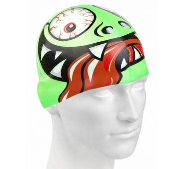 Cuffia piscina silicone Green Face Mad Wave